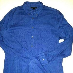 John Varvatos Button Down Shirt | Blue Floral 2XL